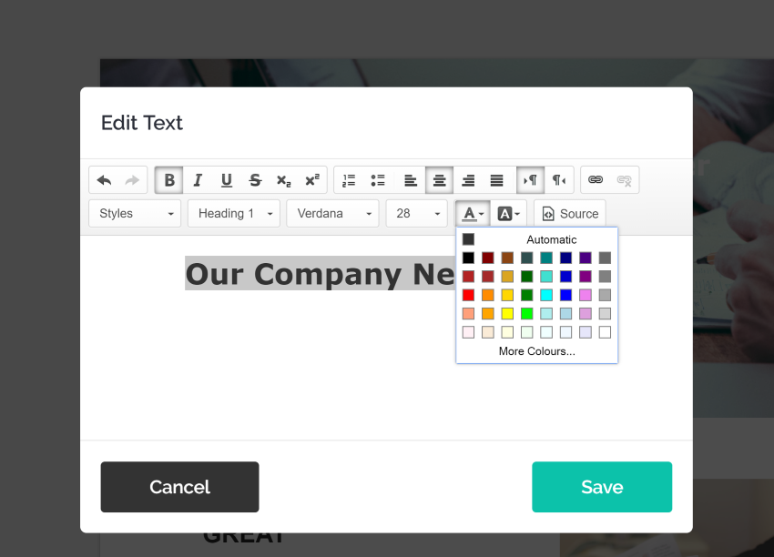 change colors in Mailchimp responsive email newsletter template