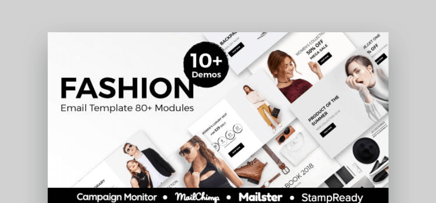 Fashion mailchimp newsletter templates - free download with Envato Elements