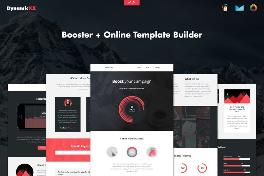 how to use Mailchimp templates like Booster for your newsletter