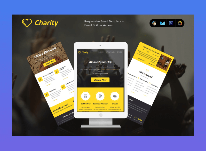 email newsletter templates - Charity