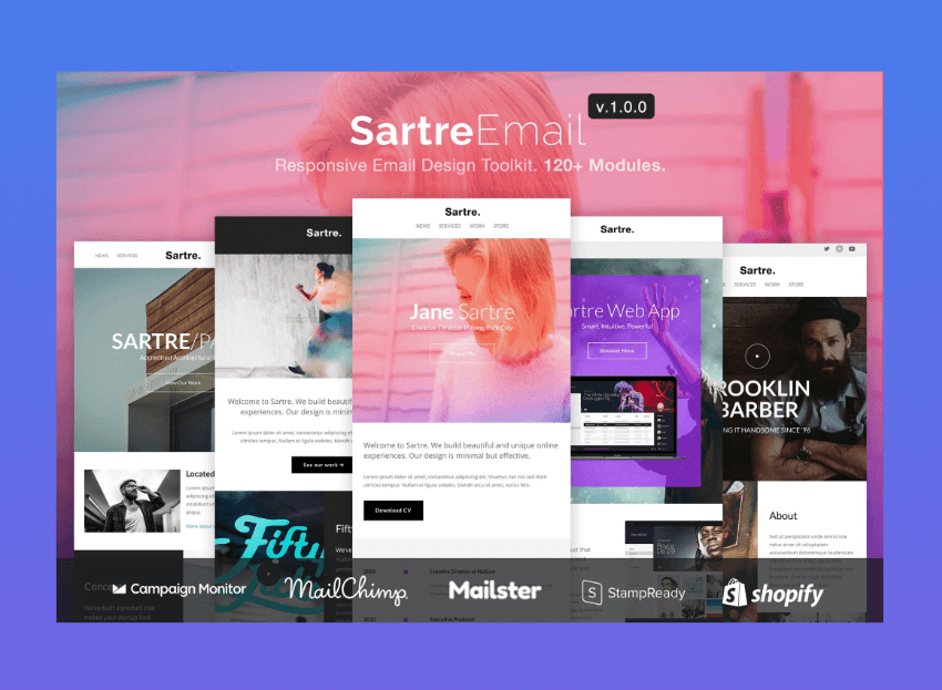 email newsletter templates - Sartre