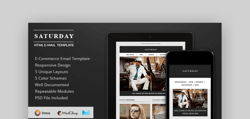 email newsletter templates - Saturday