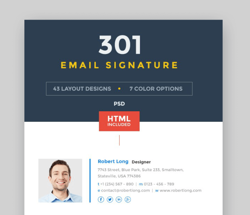 Create beautiful email signatures with GraphicRiver templates