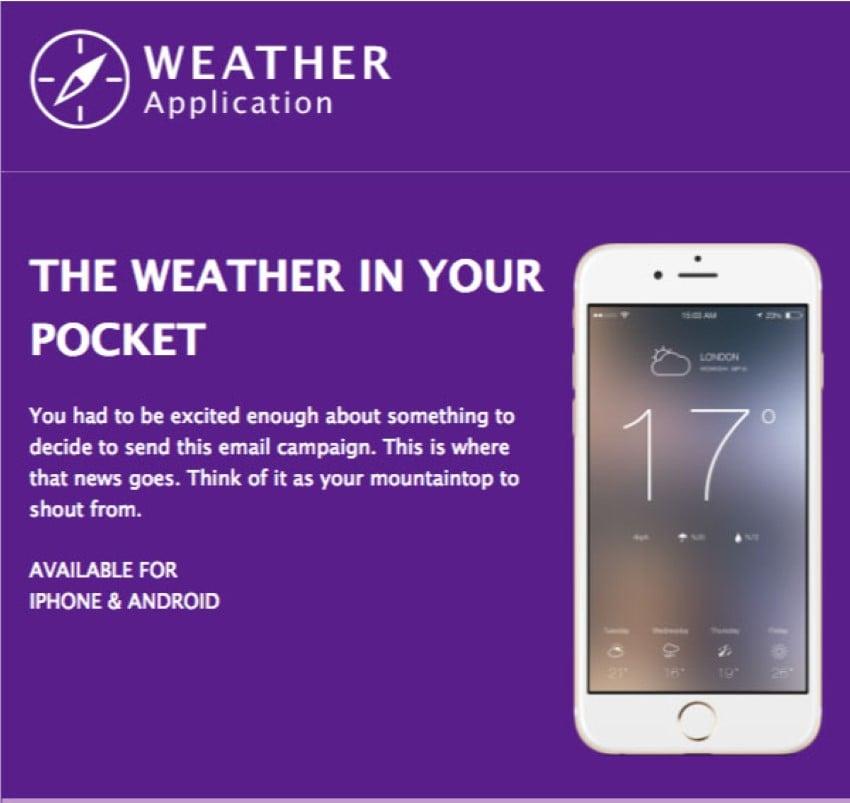 free mailchimp newsletter templates - device app