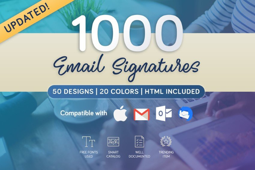 Download email footer templates on Envato Elements