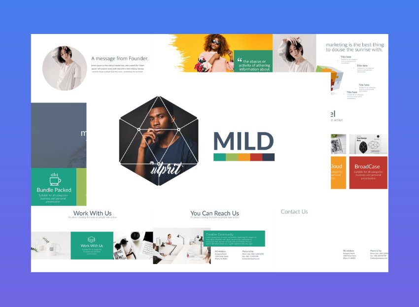 best premium powerpoint templates - mild