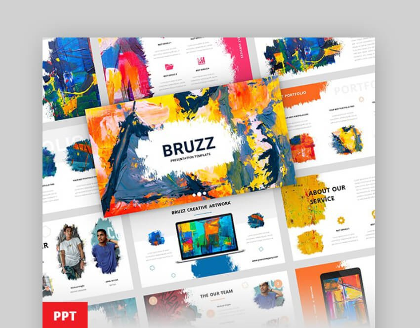 bruzz premium presentation templates