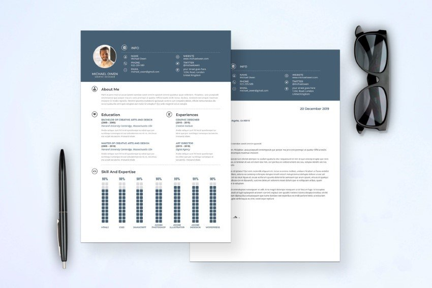 see modern resume templates on Envato Elements