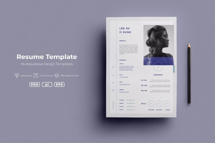 Visit Envato Elements to find modern resume layouts