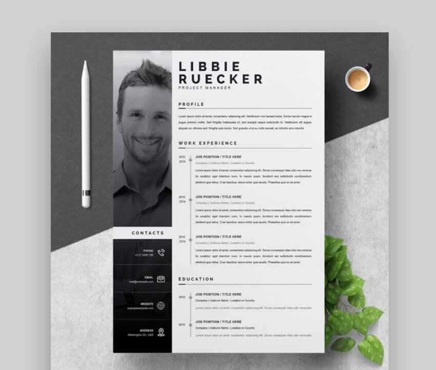 get a  modern resume template on GraphicRiver
