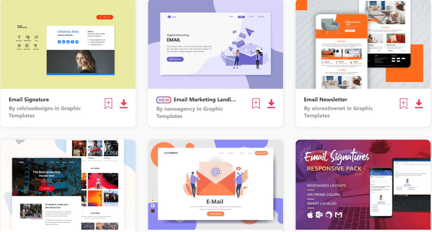 download unlimited email signature templates on Envato Elements