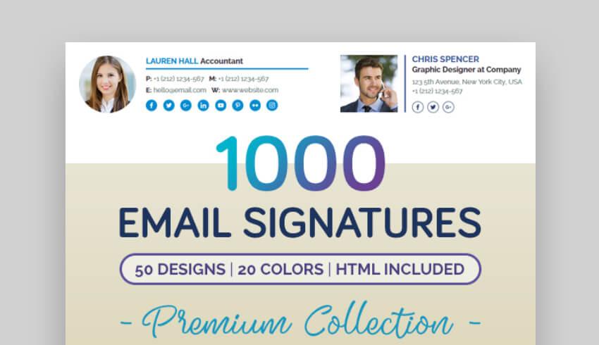 1000 email signature templates