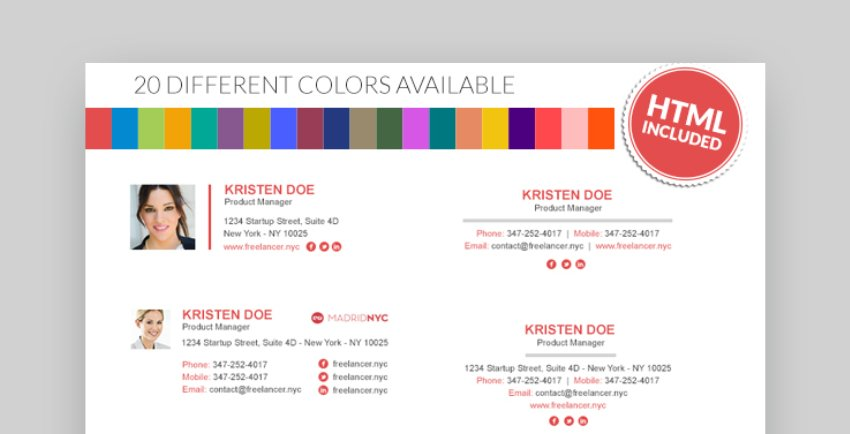 colorful email signature templates