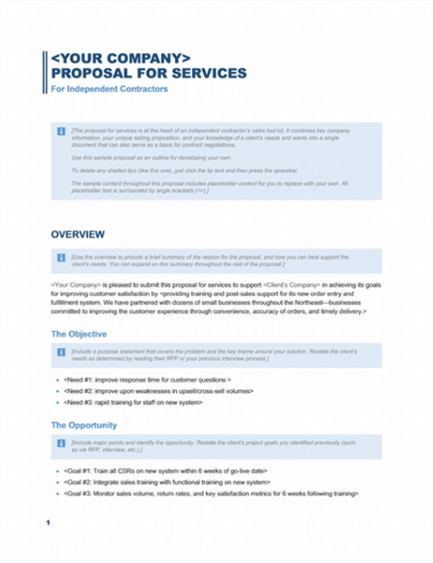 office business proposal templates