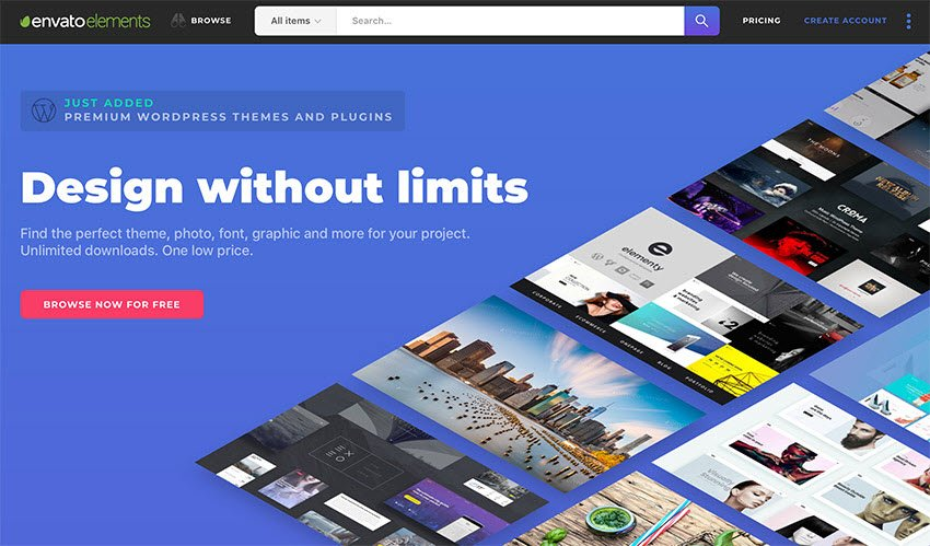 Design without limits - Envato Elements