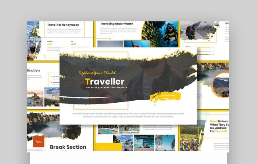 world travel powerpoint template