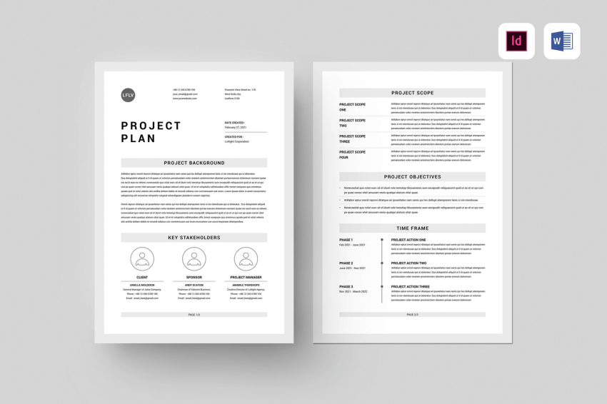 word marketing plan template for download