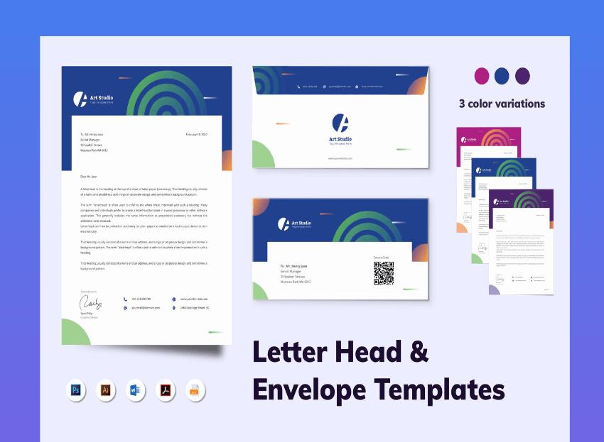 envelope template word download