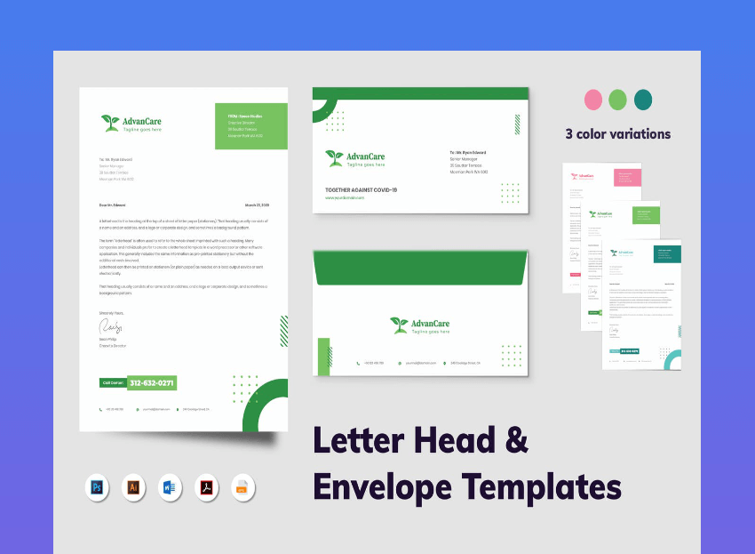 window envelope template word