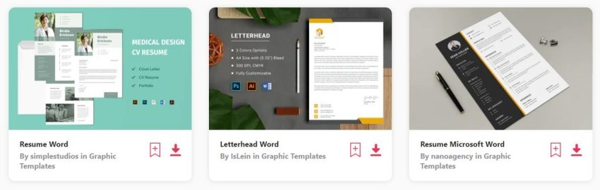 find microsoft word envelope templates on envato elements