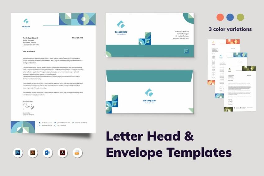 envelope templates word
