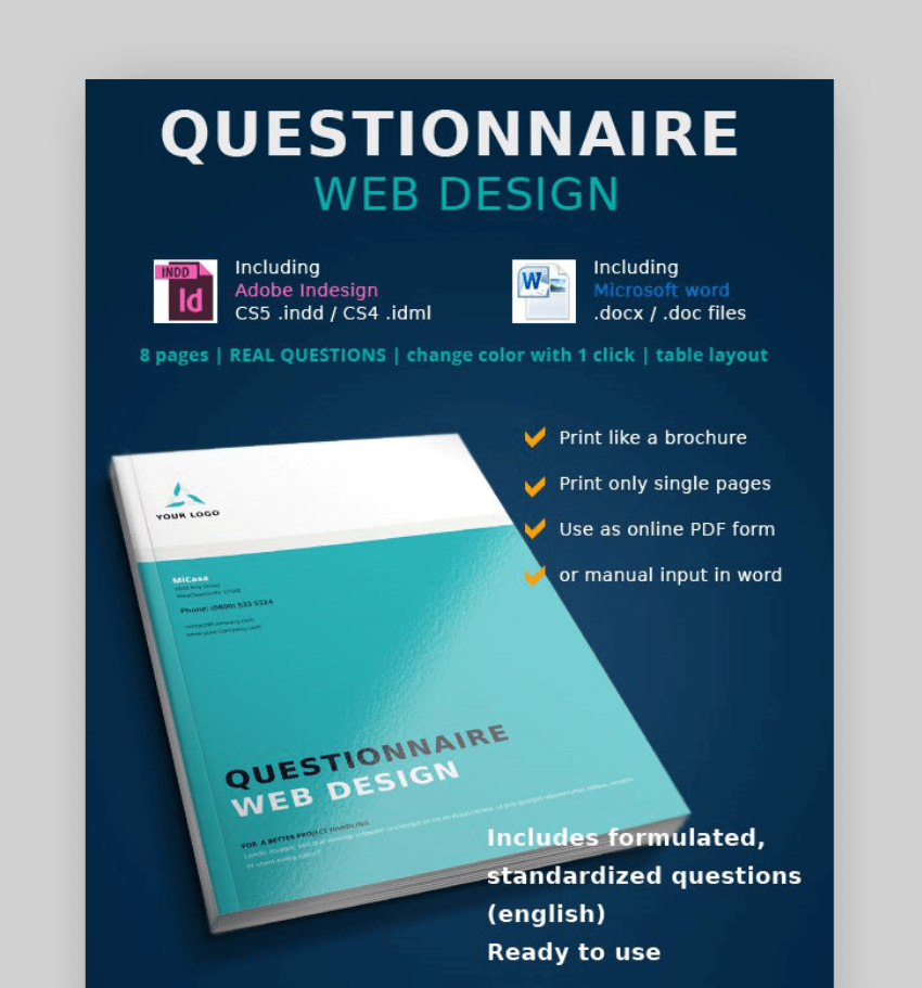 word questionnaire form template