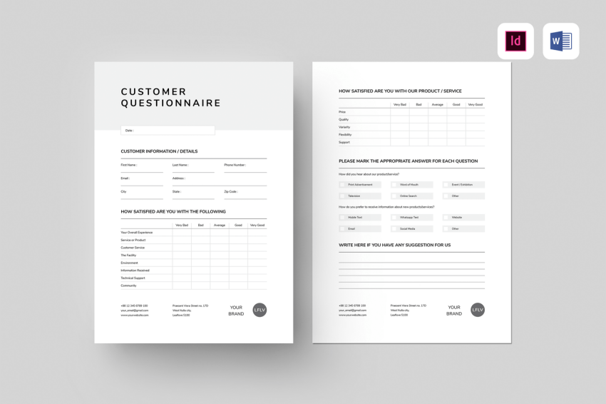 Best Free Questionnaire Microsoft Word Templates to Download