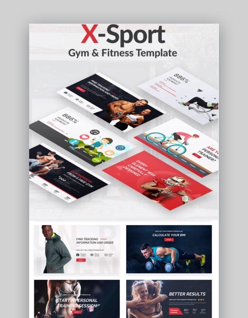 X Sport Sports PowerPoint Template