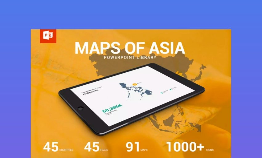 asia pacific countries map