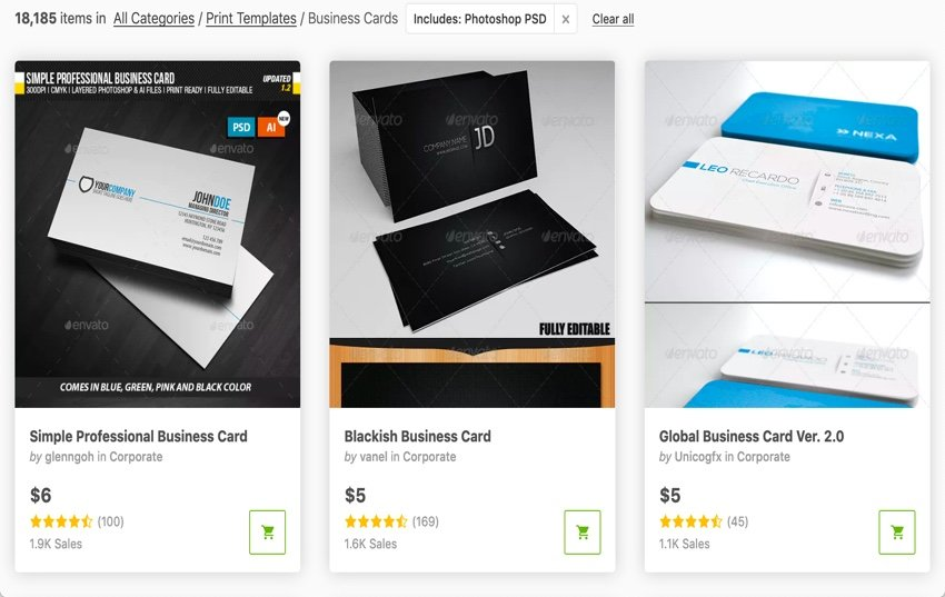 GraphicRiver Photoshop Business Card Templates