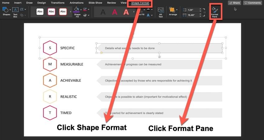 Using Shape Format