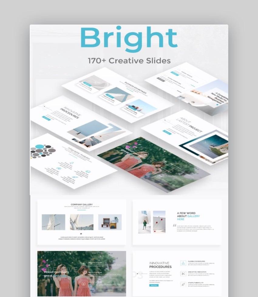Bright Presentation on Change Management Process Template