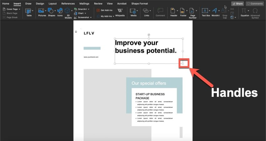 How to change the text in your Template