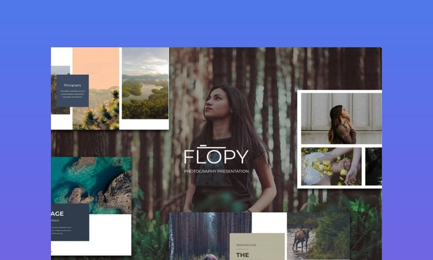 Flopy - Modern Minimalist Photographer Presentation