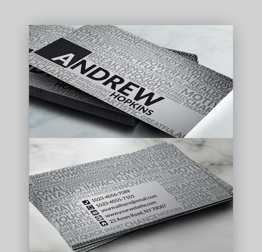 Creative Words Business Card