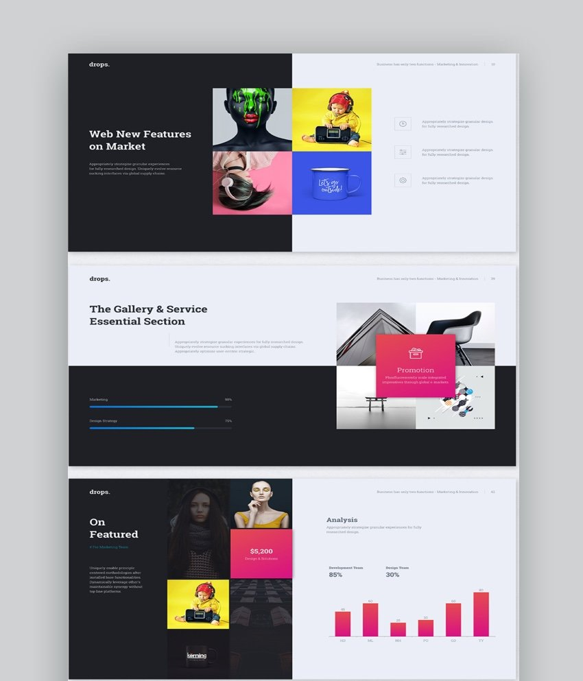 Drops Multipurpose and Creative PowerPoint Template
