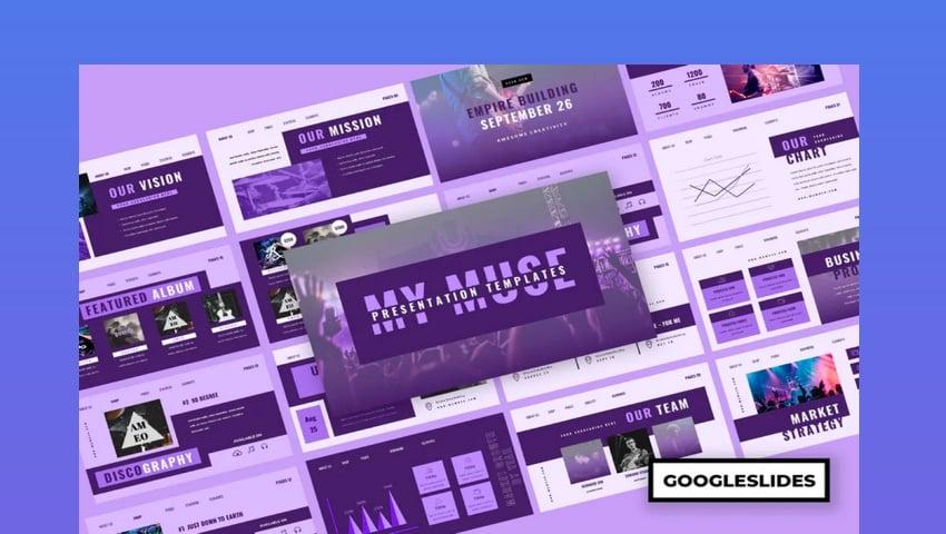 Muzik - Music Google Slides Presentation
