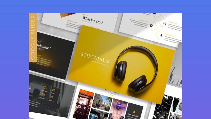 Stipendium - Music Google Slides Template