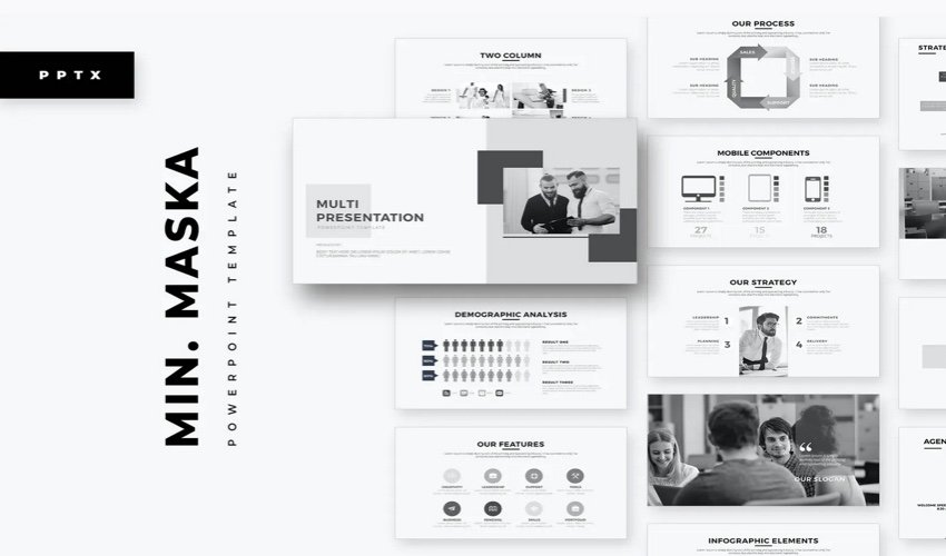 Minimal Research PowerPoint Template