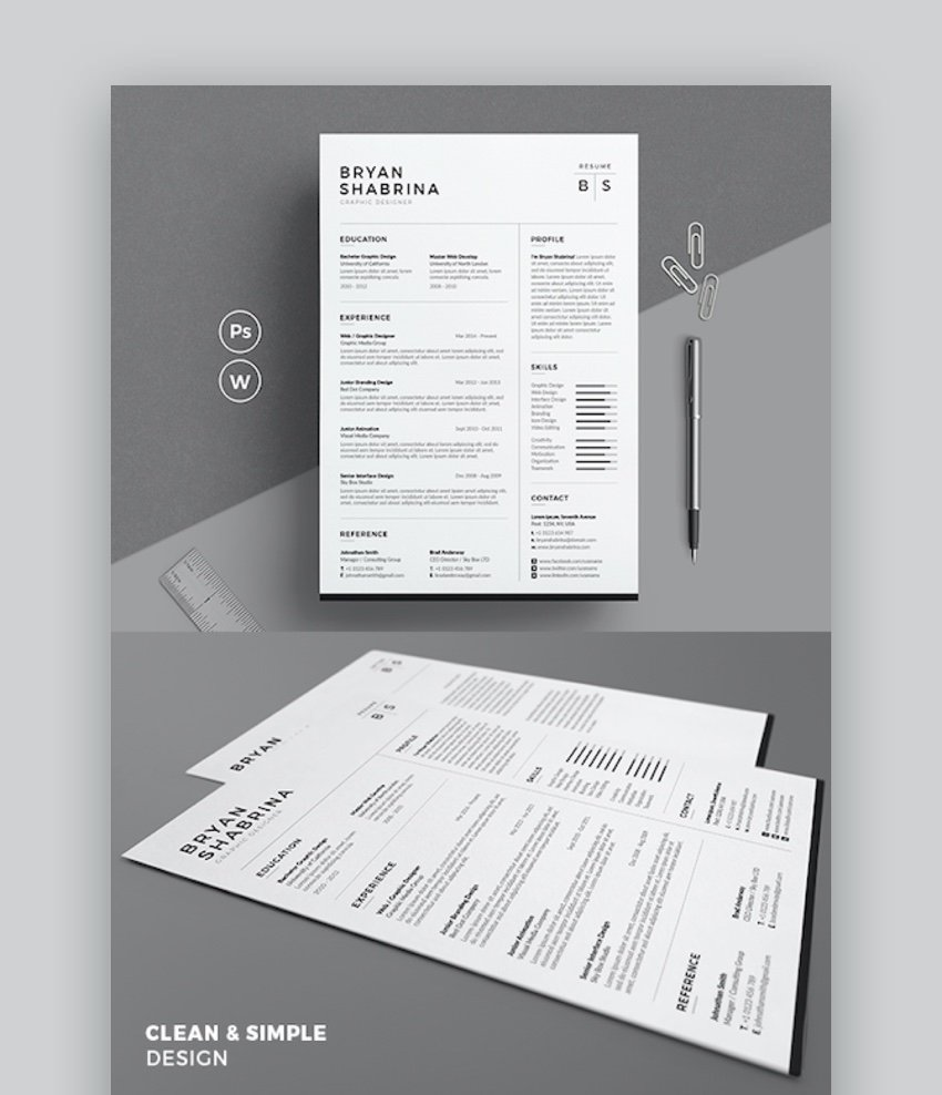 Clean and Simple Resume