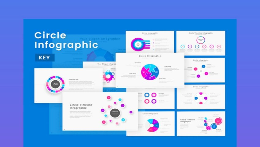 Circle Infographic Keynote Template