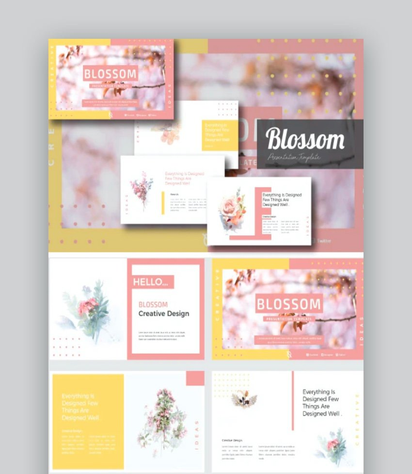 flower slides - Blossom Flowers