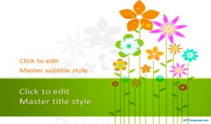 powerpoint templates flowers - Floral template