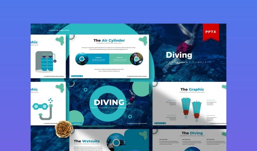 Diving PowerPoint Template