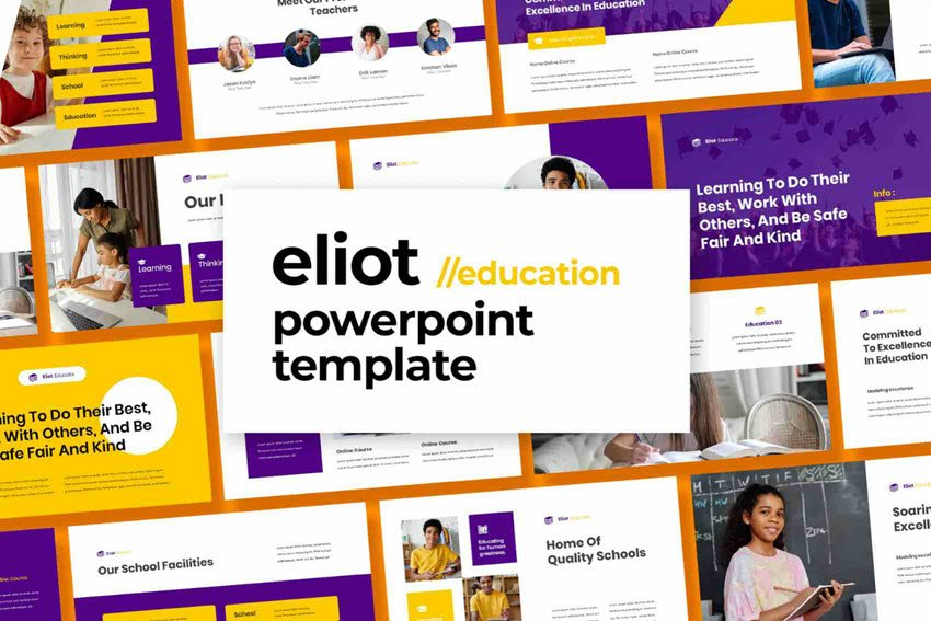 Eliot education PowerPoint template