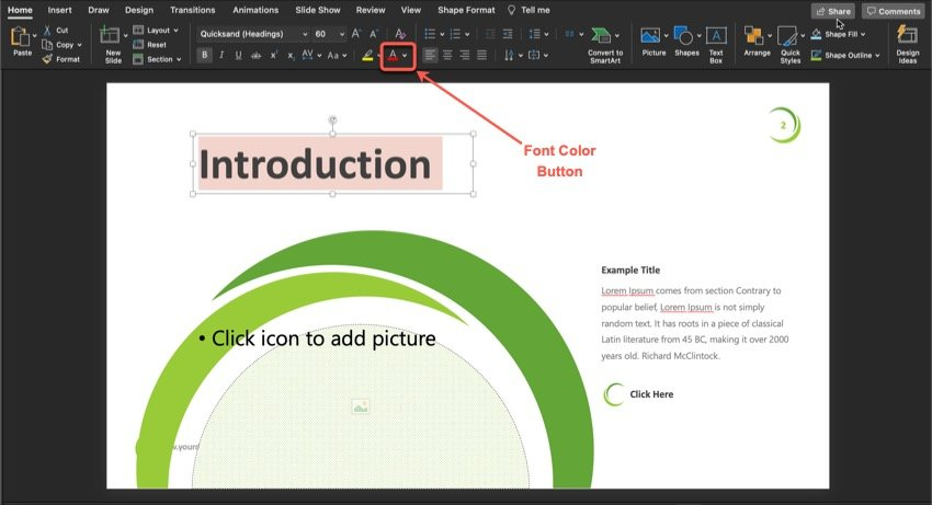Plant PowerPoint Template Tutorial Step 3