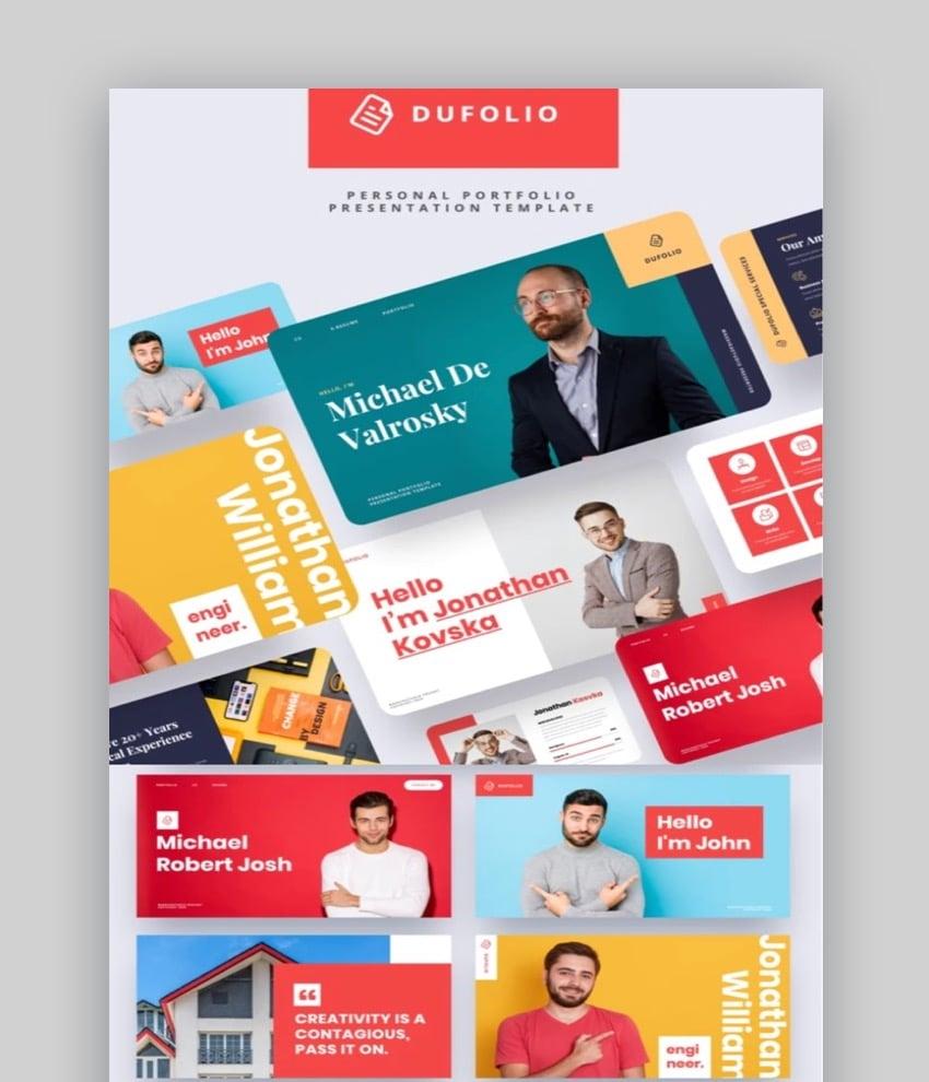 DUFOLIO Personal Portfolio PowerPoint Template