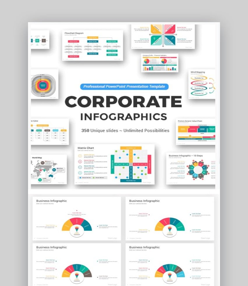 Corporate PowerPoint Infographic Template