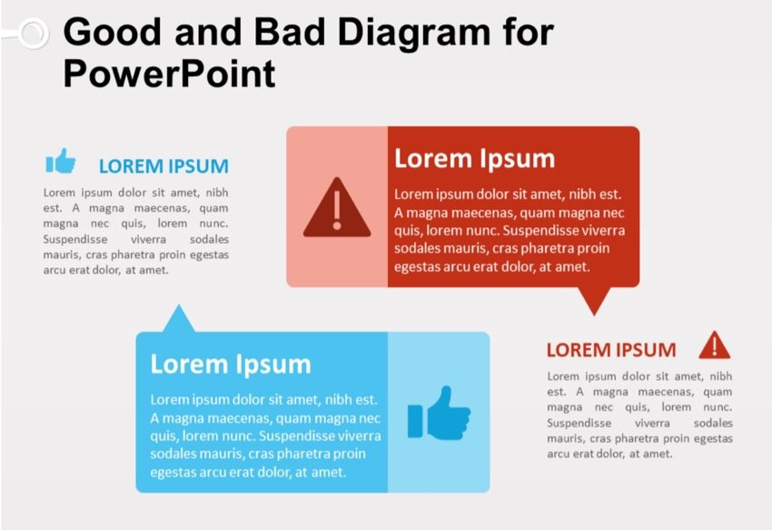 Good and Bad Diagram for PowerPoint