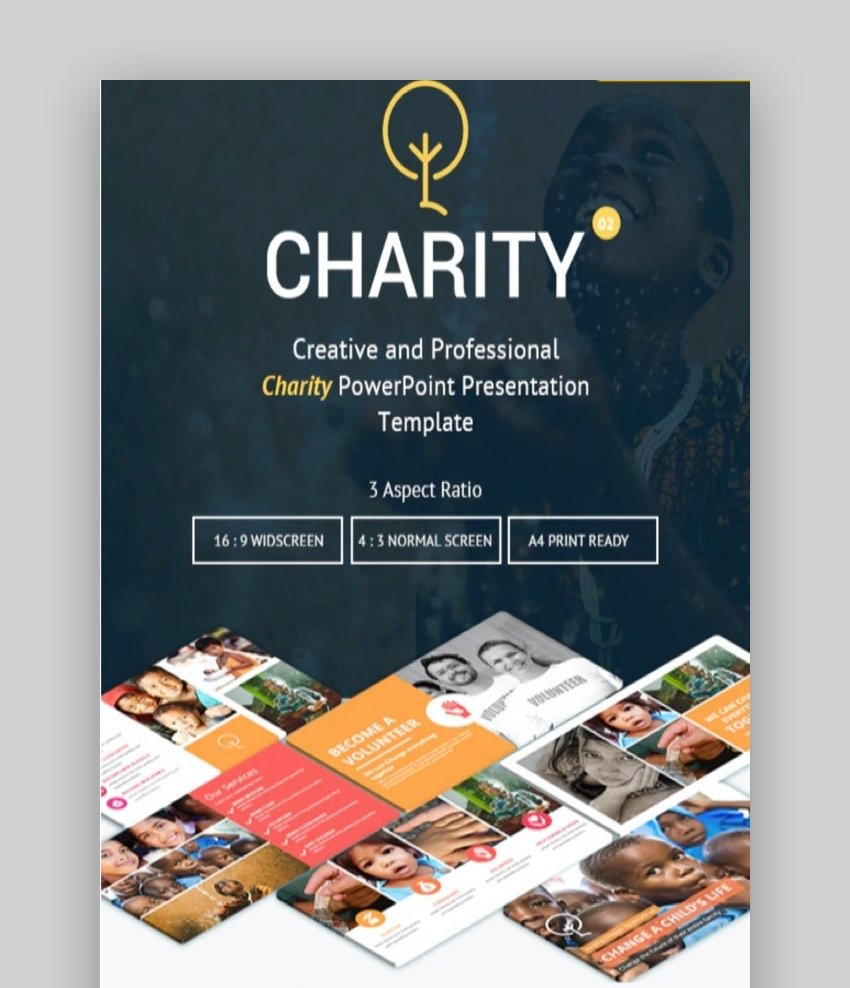 Charity Creative PowerPoint Presentation Template